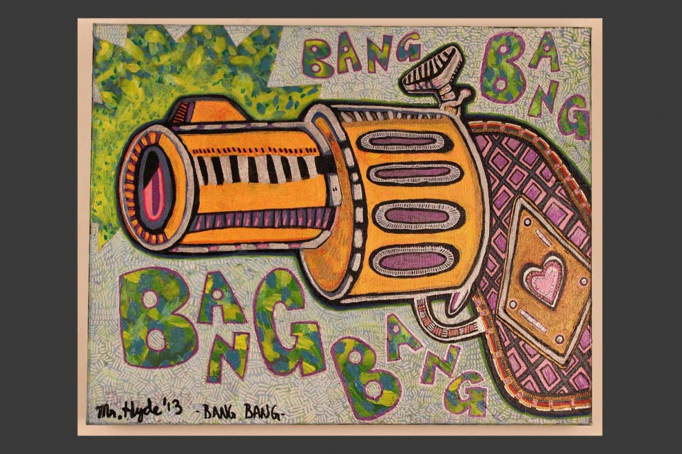 Bang Bang / acrylic on canvas / 16 x 20 in / Mr. Hydde