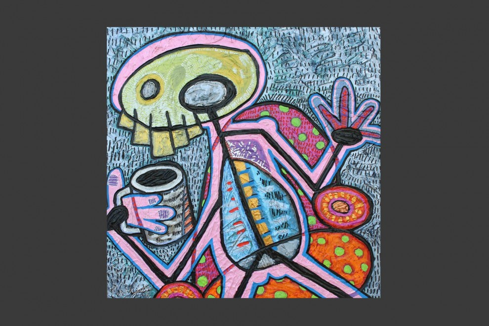 Morning Coffee / acrylic on panel / 24 x 24 in / Mr. Hydde