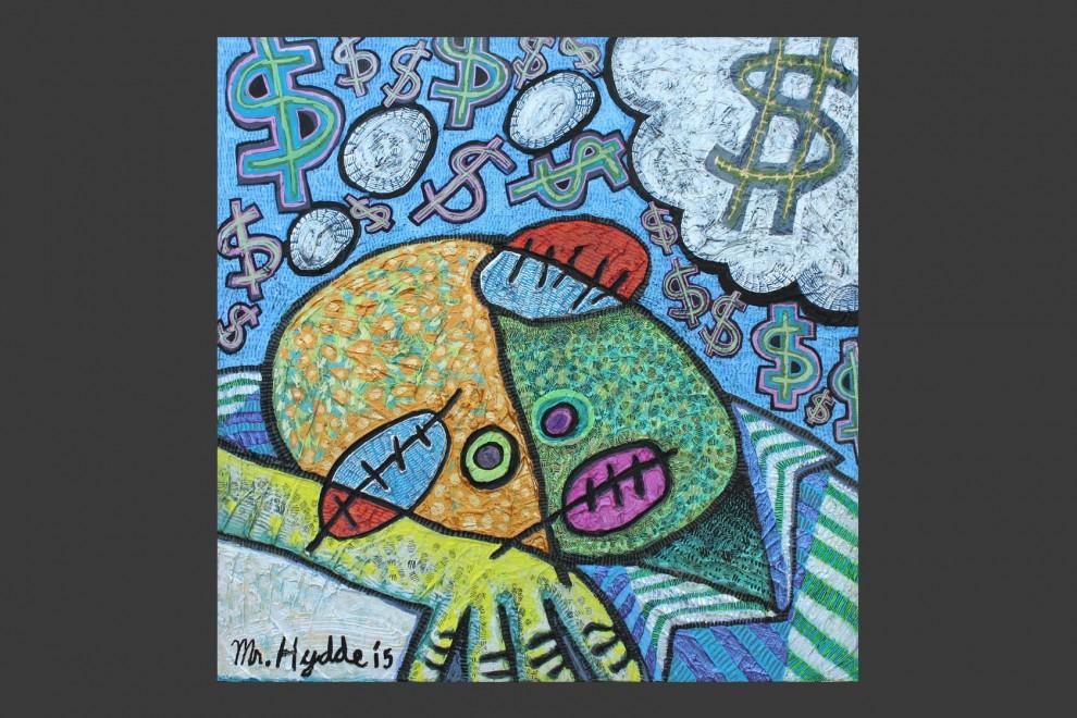 Nice Dreams / acrylic on panel / 24 x 24 in / Mr. Hydde