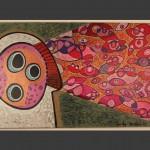 Eye Spy / acrylic on canvas / 24 x 36 in / Mr. Hydde