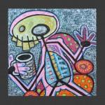 Morning Coffee / acrylic on panel / 24 x 24 in / Mr. Hydde