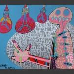 Night Light / acrylic on canvas / 30 x 24 in / Mr. Hydde
