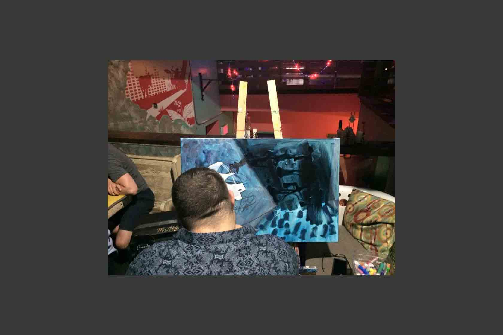 Live Painting Performance, Pacific Junction Hotel, Aug 26 2015